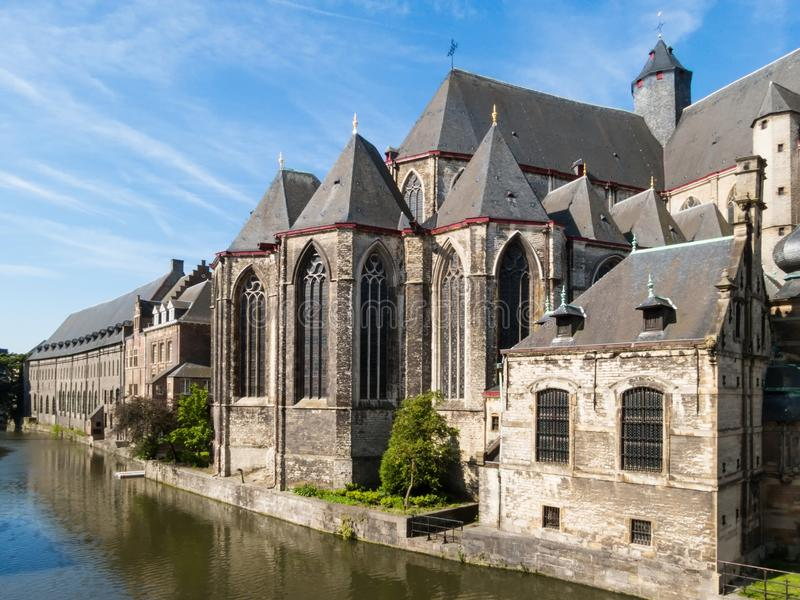 Saint Michael's Church, Gent, Belgium. Saint Michael's Church - Sint-Michielskerk, Gent, Belgium royalty free stock image