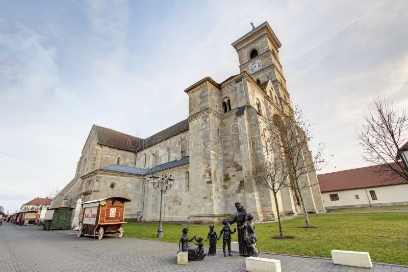 Saint Michael Cathedral in Alba Iulia stock images