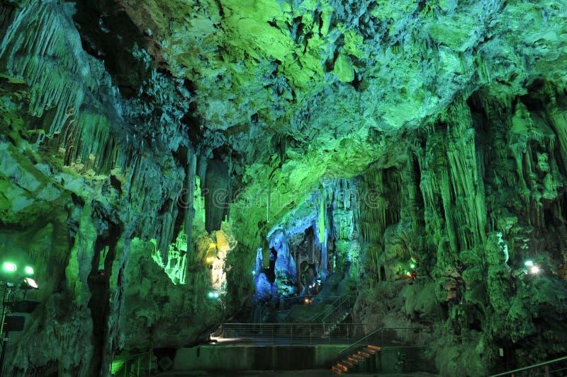 Saint Michaels Cave, Gibraltar image libre de droits