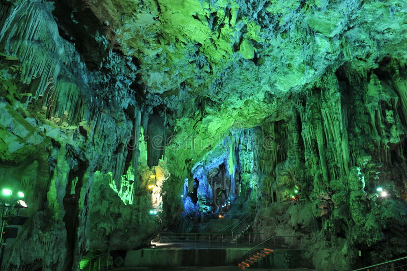 Saint Michaels Cave, Gibraltar. Saint Michaels Cave in the British Overseas Territory of Gibraltar royalty free stock image
