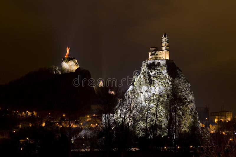 Le Puy en Velay, France royalty free stock photos