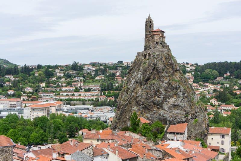 Saint-Michel d' Capilla de Aiguilhe fotografía de archivo libre de regalías