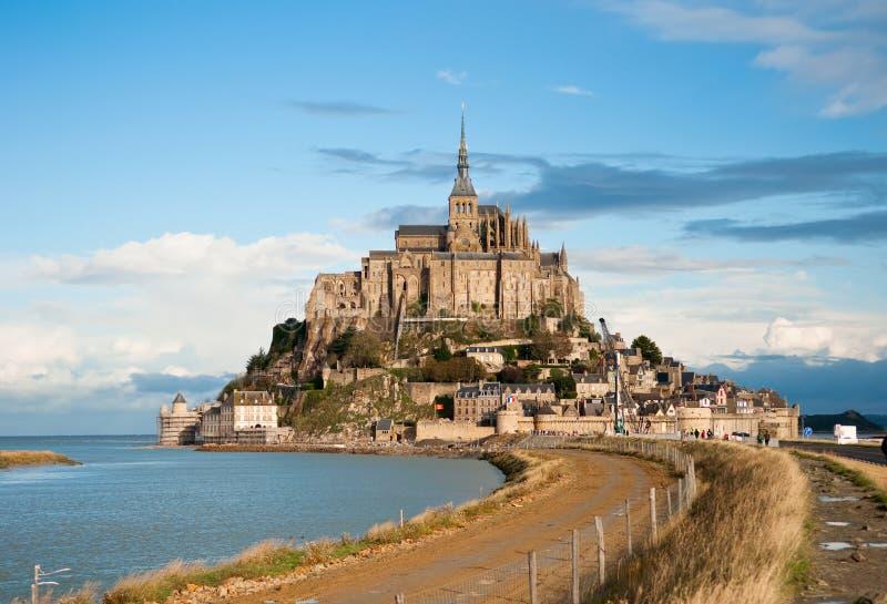 Saint-Michel de Mont, marée élevée, automne photos stock