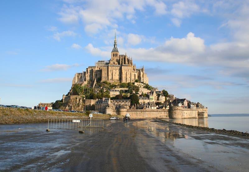 Saint-Michel di Mont dell'abbazia fotografia stock