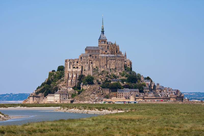 Download Saint Mont Michel, Medieval Abbey In France Stock Image - Image: 15917003