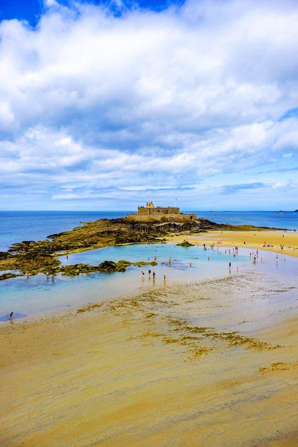 Saint nacional Malo Brittany France do forte imagem de stock