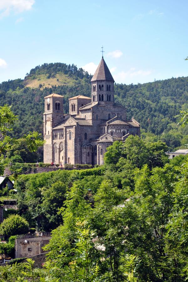 Saint Nectaire Church royalty free stock photography