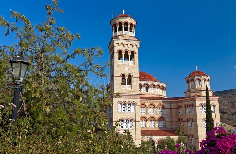 Saint Nektarios church in Greece royalty free stock images