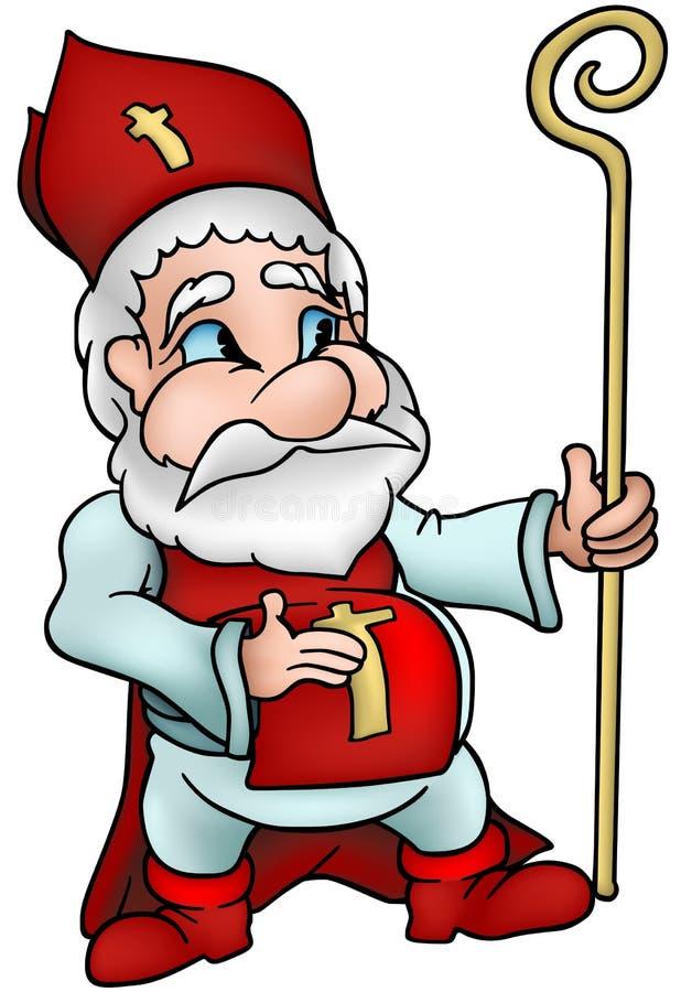 saint nicholas royalty ilustracja