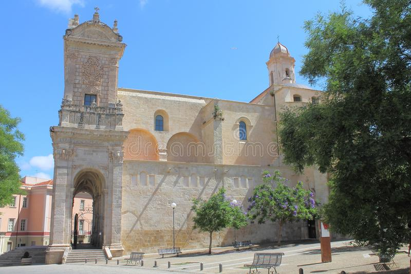 Saint Nicholas Cathedral Sassari Sardinia Italy imagem de stock