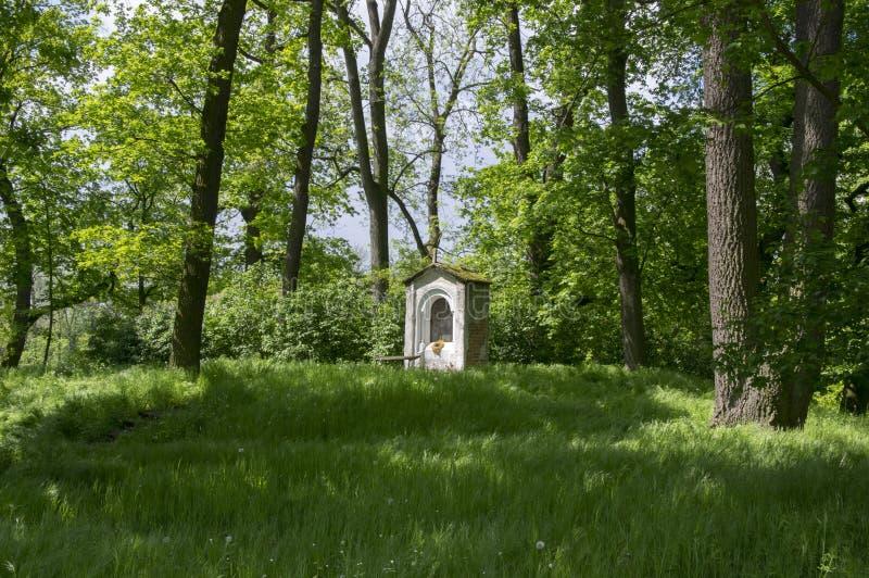 Saint Nicholas chapel near Kacina Chateau in public park, Czech republic stock photos