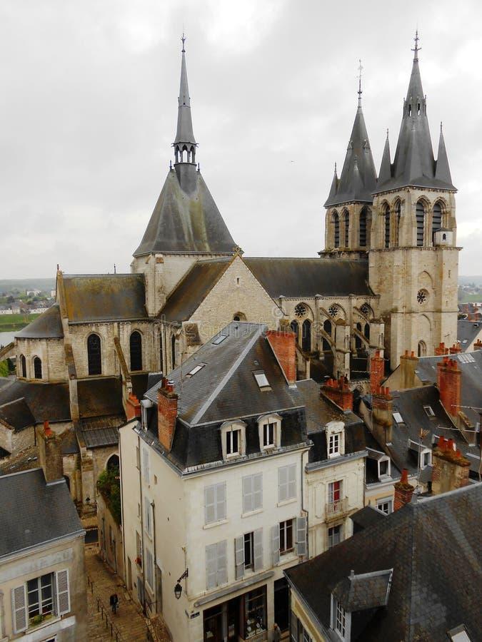 SAINT NICHOLAS CHURCH, BLOIS, FRANCE royalty free stock image
