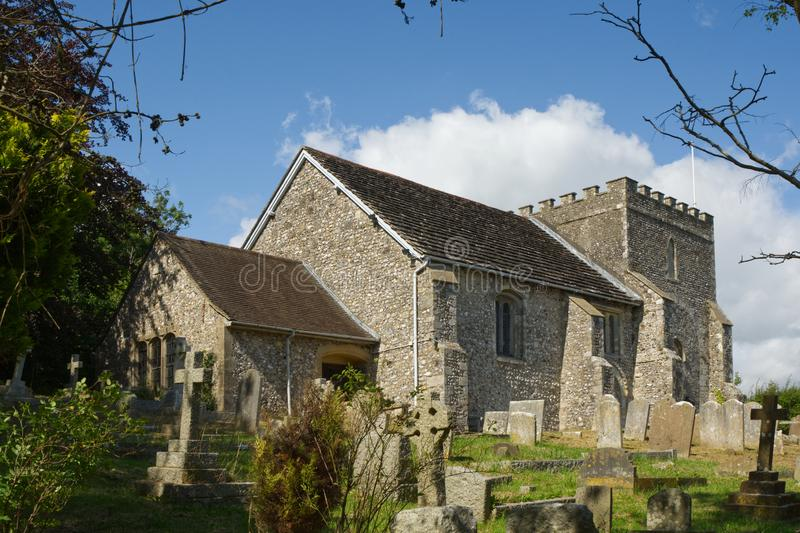 St. Nicholas Church, Bramber, West Sussex, England. Saint Nicholas Church at Bramber in West Sussex, England. Viewed from churchyard royalty free stock photo