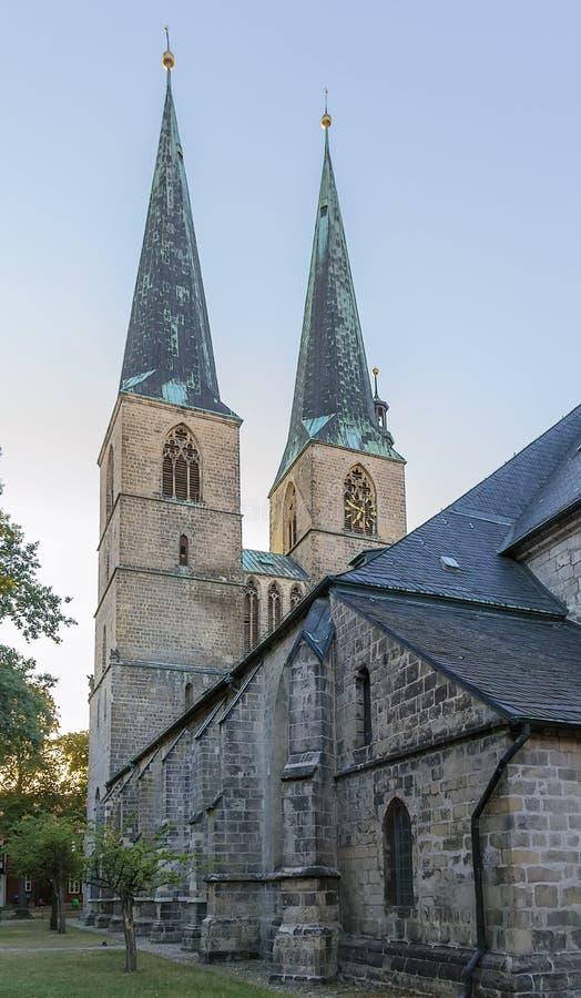 Saint Nicholas church in Quedlinburg, Germany royalty free stock image