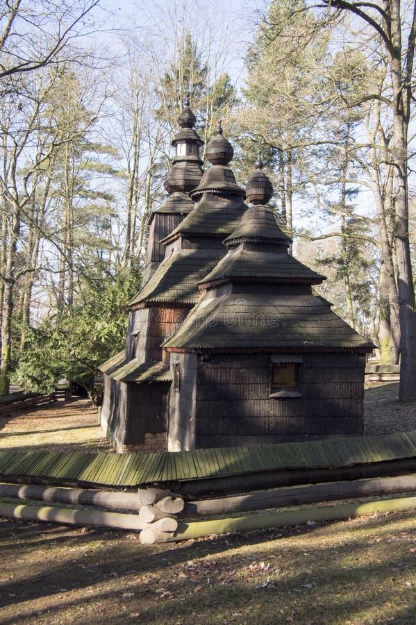 Saint Nicholas Church Wonderer placed in public gardens, Hradec Kralove, Czech republic. Sunny day, autumn season royalty free stock image