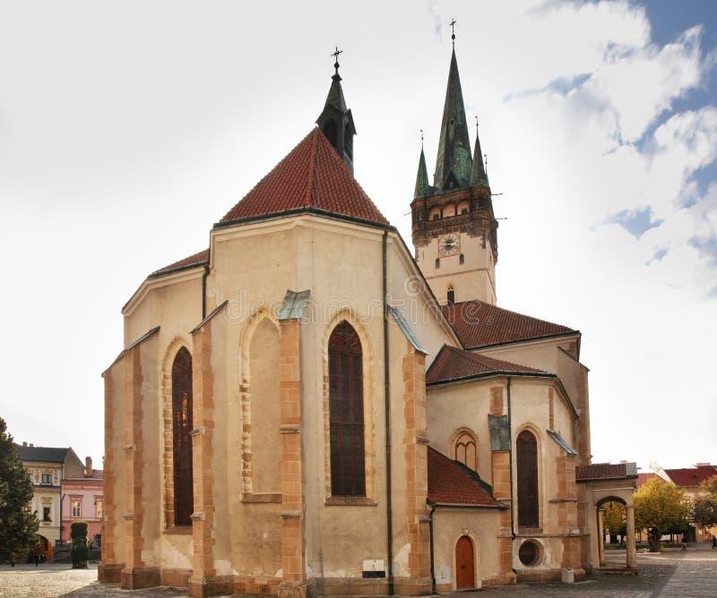 Saint Nicholas Concathedral in Presov. Slovakia.  royalty free stock photos