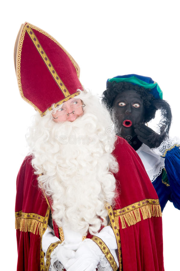 Saint Nicholas et son aide photos stock