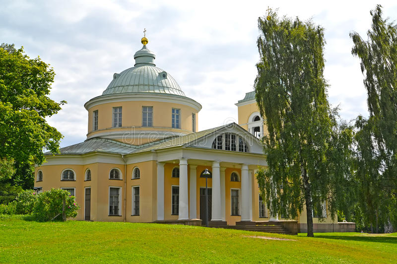 Saint Nicholas`s church of the Wonder-worker in the city of Kotka, Finland royalty free stock photography