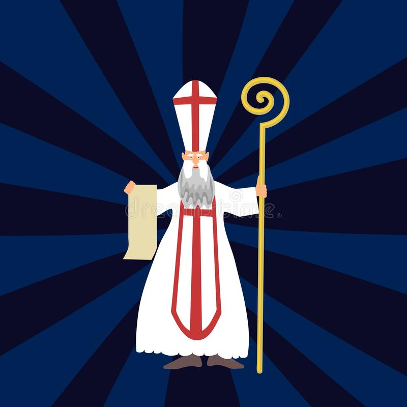 Saint-Nicolas illustration stock