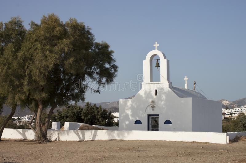 Saint Nicolas church in Naxos island. Saint Nicolas church in Agia Anna, Naxos island stock images