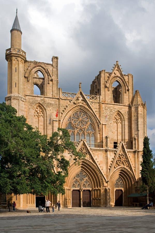 Saint Nicolas-Kathedrale/Lala Mustafa Pasha-Moschee stockbilder