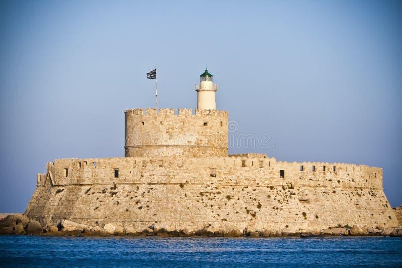 St. Nicholas Fortress, Rhodes, Greece Stock Photos