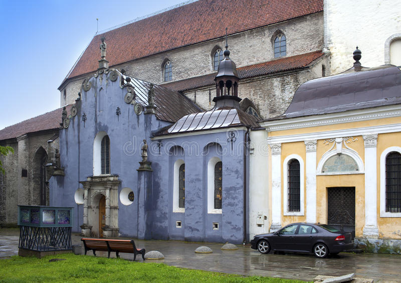Saint Olav's church(Oleviste), Saint Maria chapel, (1513) in Tallinn, Estonia royalty free stock photos