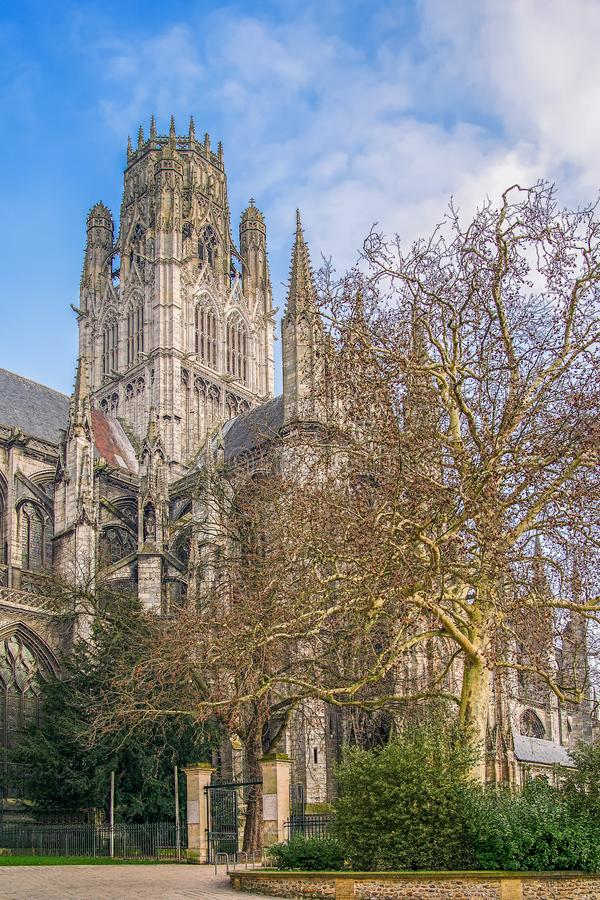 Saint-Owen Roman Catholic Abbey Church Rouen normandy france foto de stock