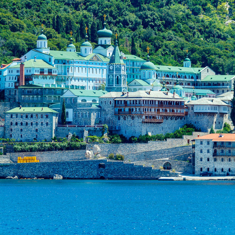 Saint Panteleimon Monastery, Mount Athos royalty free stock photo