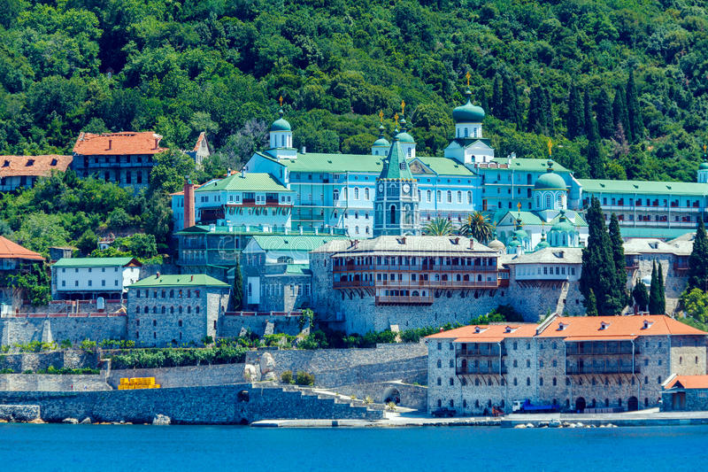 Saint Panteleimon Monastery, Mount Athos royalty free stock photos