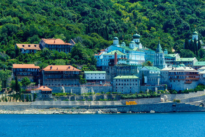 Saint Panteleimon Monastery, Mount Athos stock photography