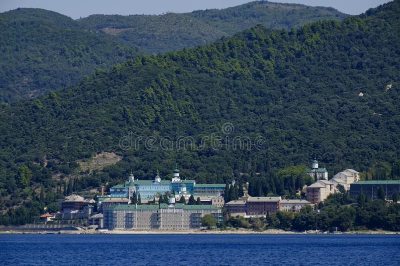 Saint Panteleimon Monastery royalty free stock photos