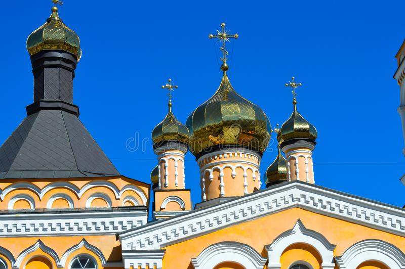 Saint Patriarch`s Cathedral Plato Church in Kyiv, Ukraine on April 9, 2017. stock photography