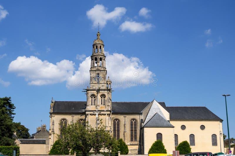 Saint Patrice Church de Bayeux D?partement du Calvados, Normandie, France images stock