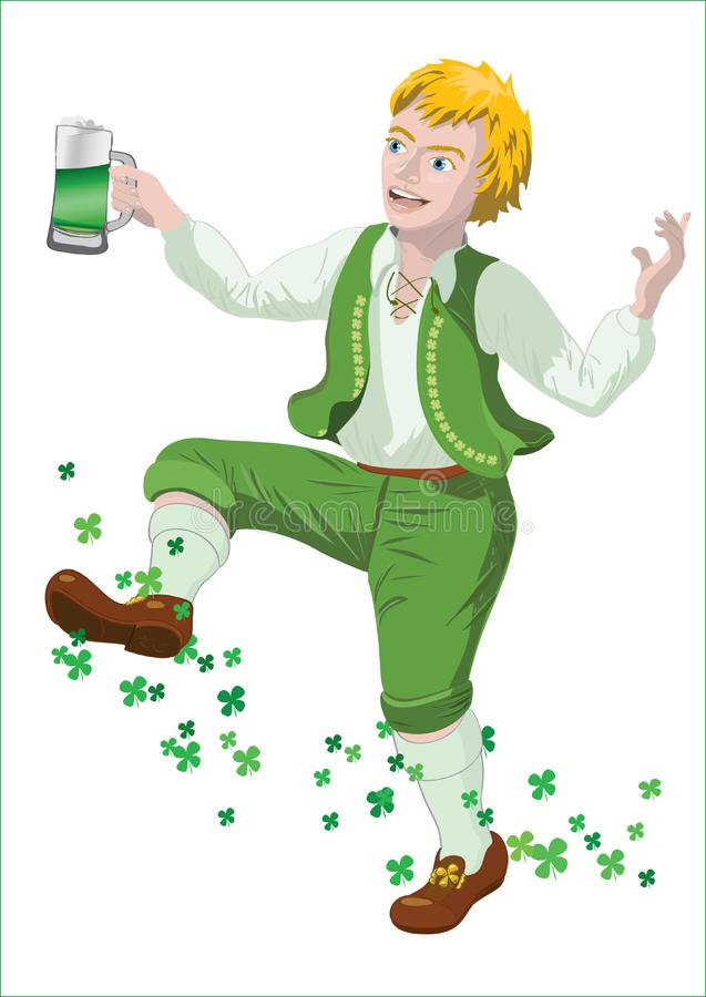 Download Saint Patrick with beer stock vector. Illustration of mithology - 23768537