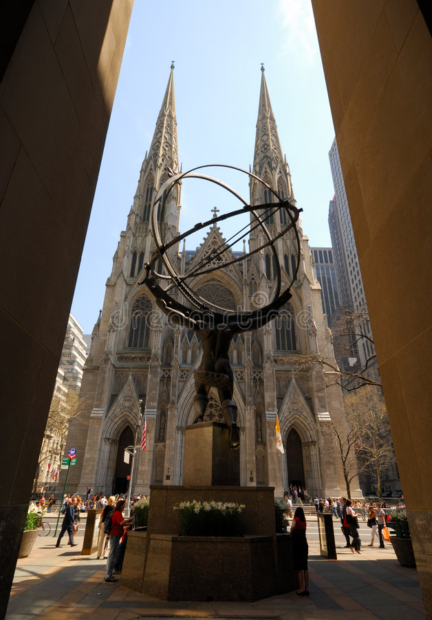 Saint Patrick Cathedral in New York royalty free stock photos