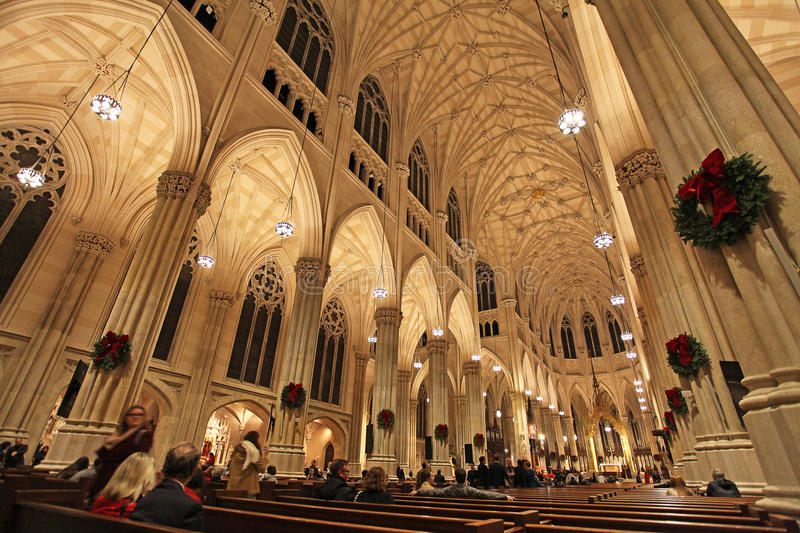 Saint Patrick Cathedral New York City, Etats-Unis image libre de droits