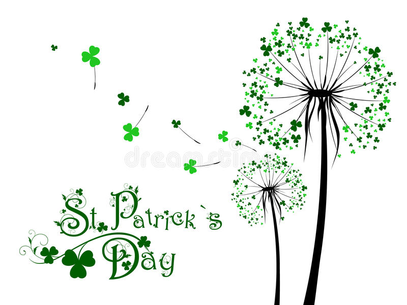 Saint Patrick Day Dandelions illustration stock