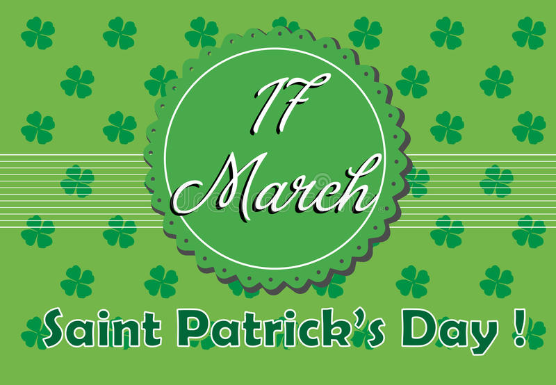 Saint Patrick greeting stock photos