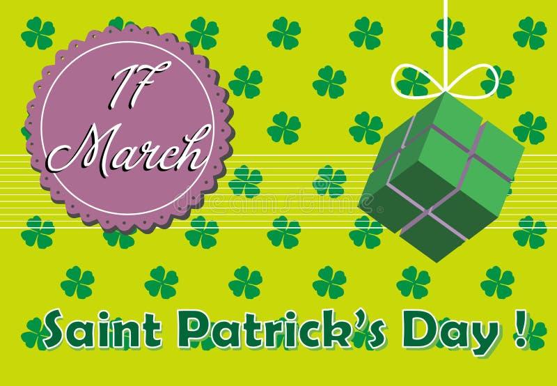 Saint Patrick postcard stock photography