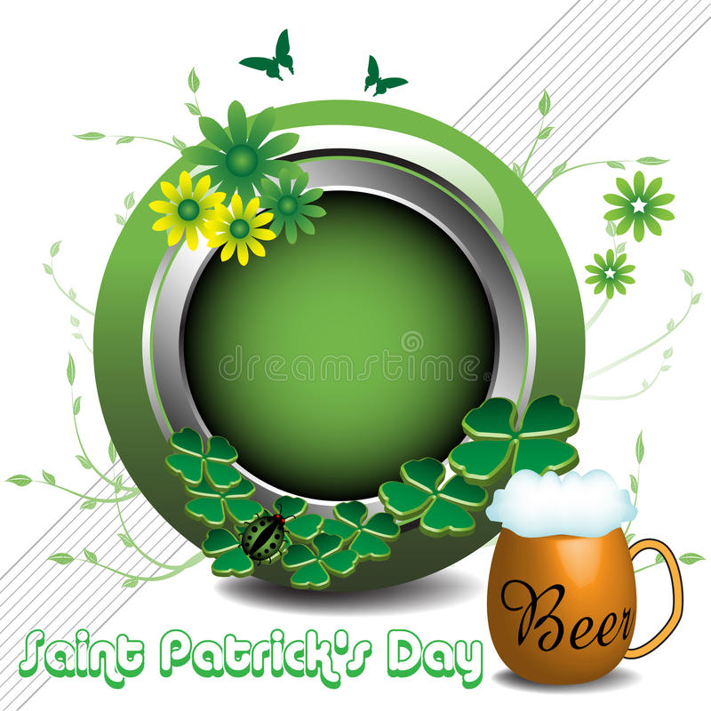Saint Patrick rounded frame stock photos