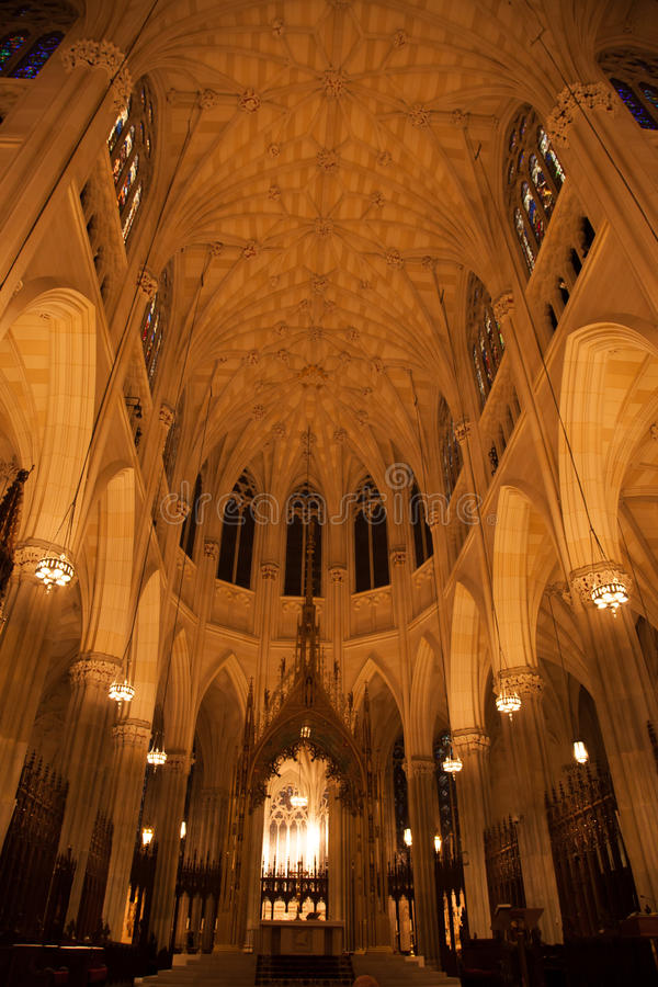Saint Patrick's Cathedral, Inside. stock image