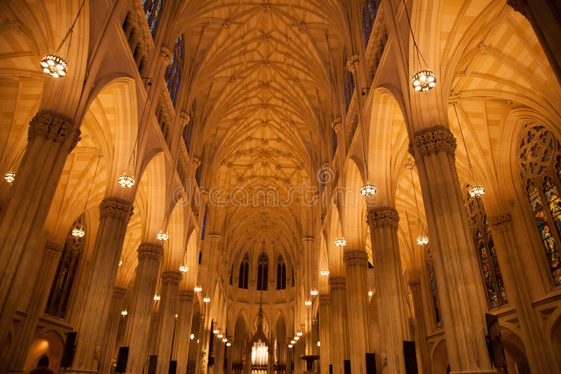 Saint Patrick's Cathedral, Inside. royalty free stock photos