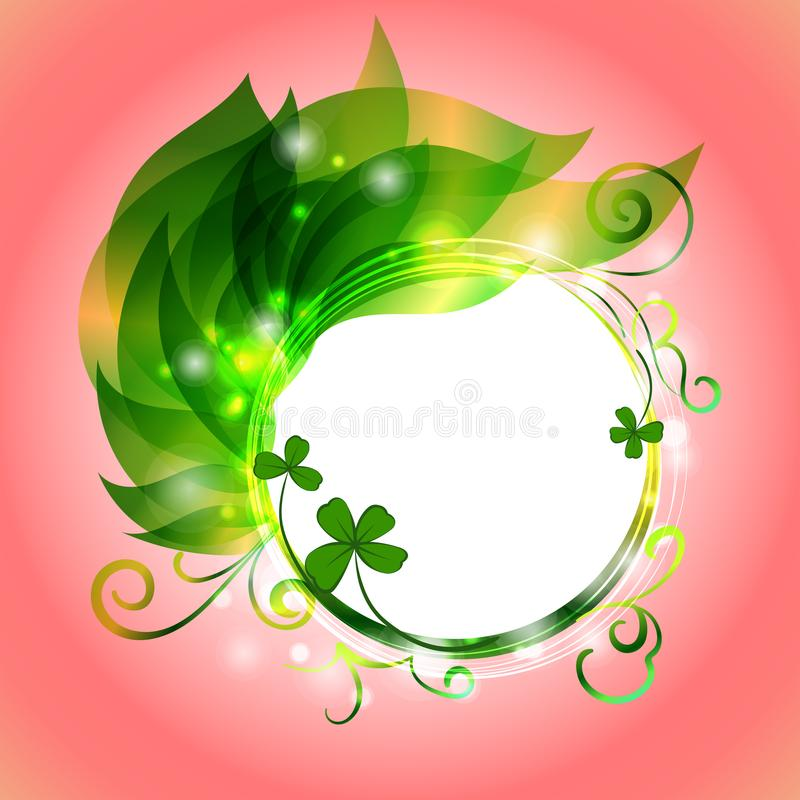 Background for Patrick s day poster royalty free illustration