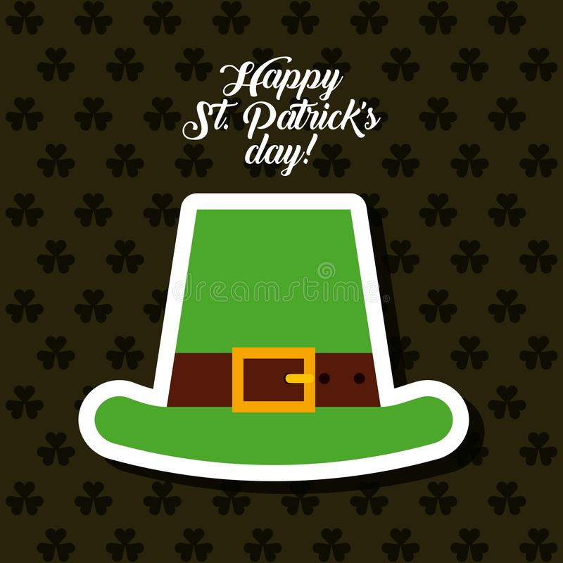 Saint patrick's day design. Saint patrick's day card with irish hat icon. colorful design. illustration royalty free illustration