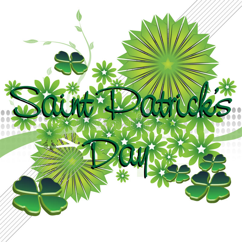 Saint Patrick's Day greeting royalty free stock photos