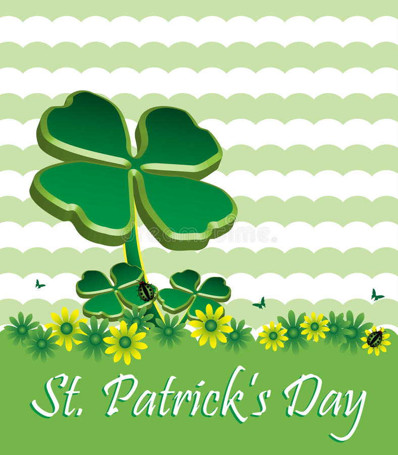 Saint Patrick's Day greeting royalty free stock photo