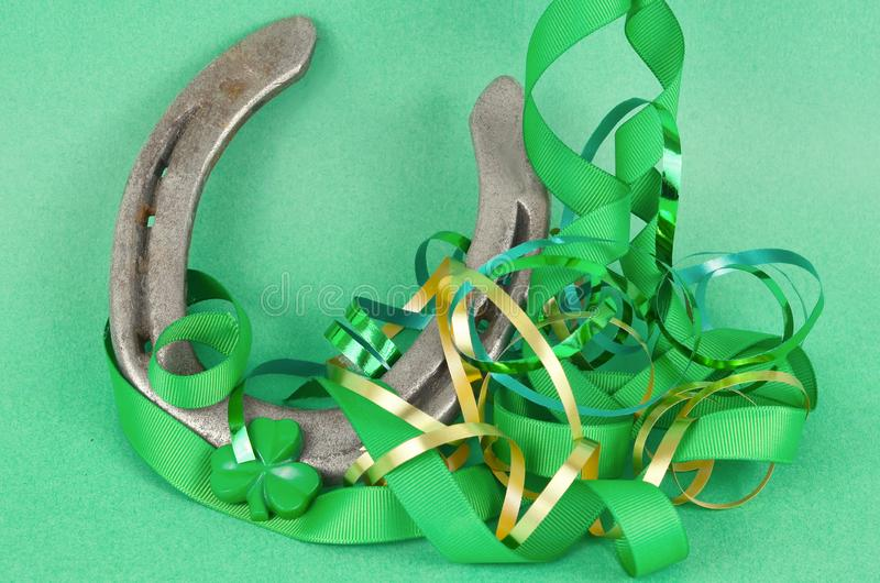 Saint Patrick`s Day image of a lucky horsehoe stock image