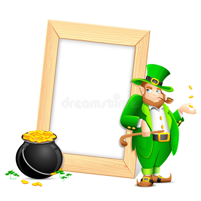 Download Saint Patrick's Day Photo Frame Stock Vector - Illustration of leaf, pipe: 23517139