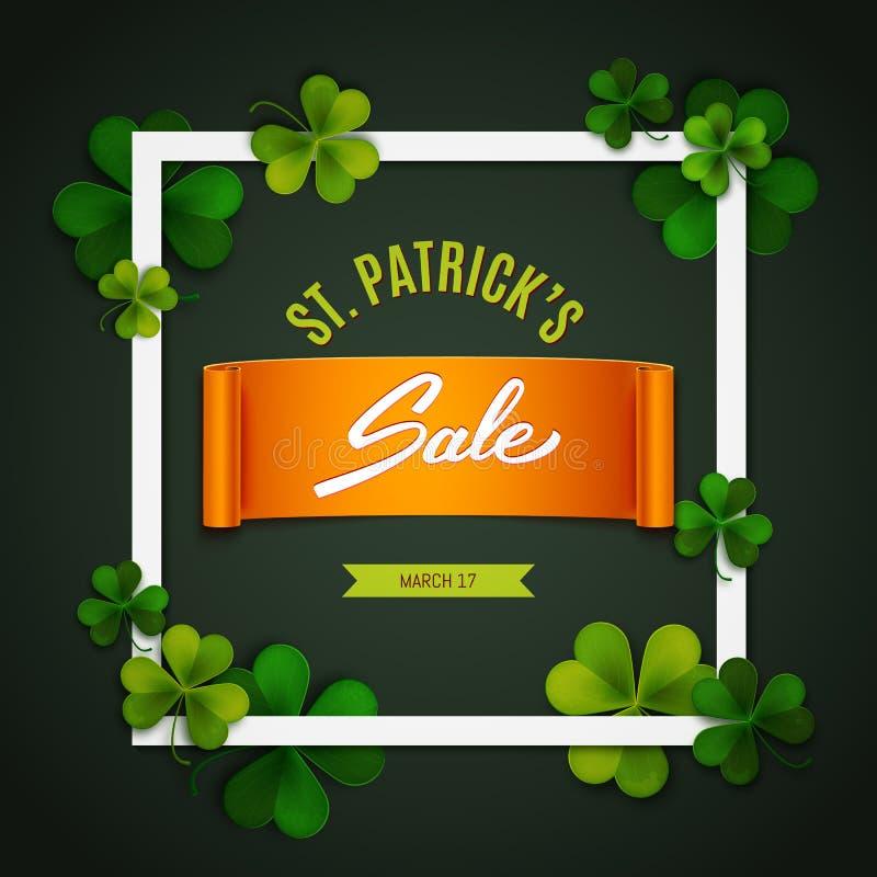 Saint Patrick's Day sale banner, advertising, vector. Illustration royalty free illustration